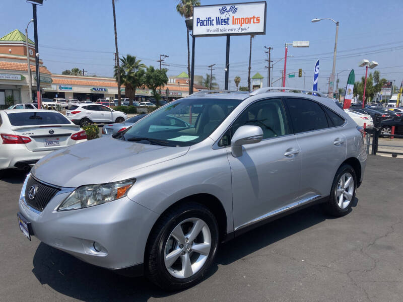2010 Lexus RX 350 for sale at Pacific West Imports in Los Angeles CA