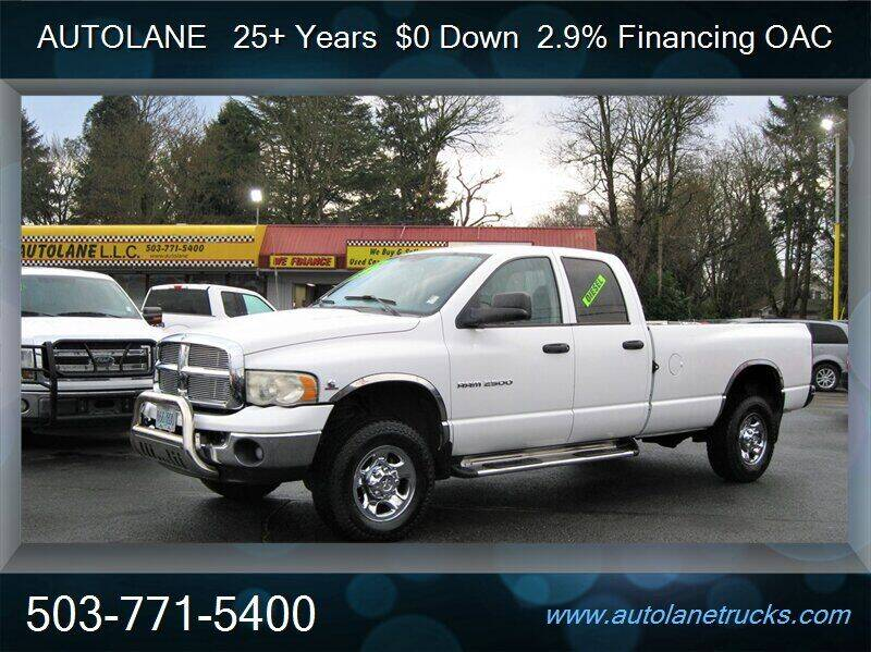 2004 Dodge Ram Pickup 2500 for sale at Auto Lane in Portland OR