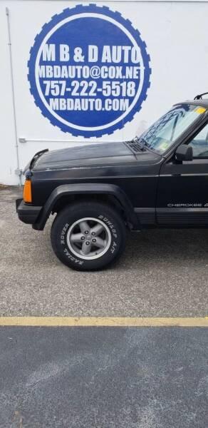 1996 Jeep Cherokee for sale at M B & D AUTO in Va Beach VA