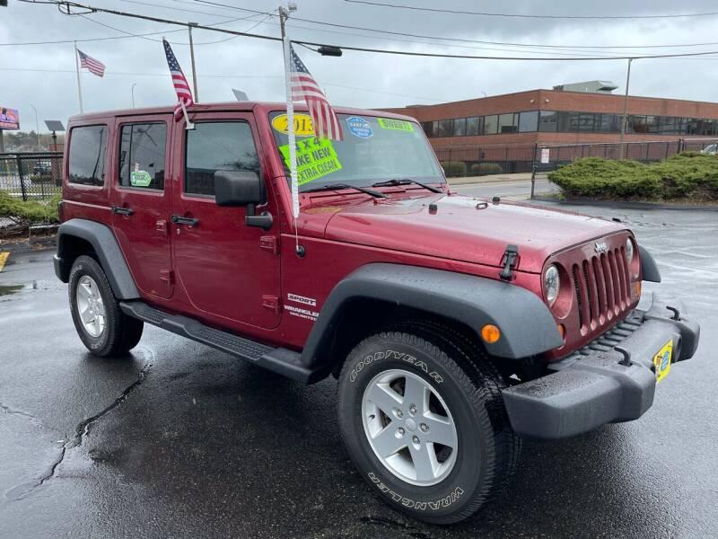 2013 Jeep Wrangler Unlimited for sale at Fields Corner Auto Sales in Dorchester MA