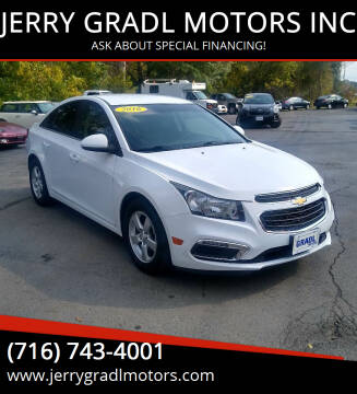 2016 Chevrolet Cruze Limited for sale at JERRY GRADL MOTORS INC in North Tonawanda NY