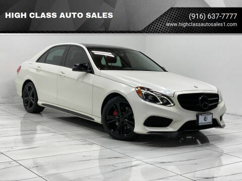 2014 Mercedes-Benz E-Class for sale at HIGH CLASS AUTO SALES in Rancho Cordova CA