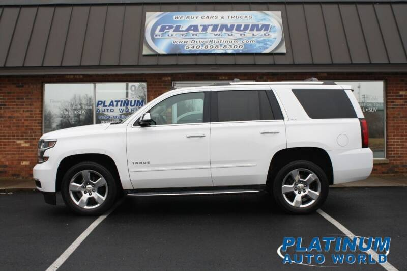 2015 Chevrolet Tahoe for sale at Platinum Auto World in Fredericksburg VA