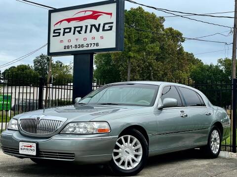 2006 Lincoln Town Car for sale at Spring Motors in Spring TX