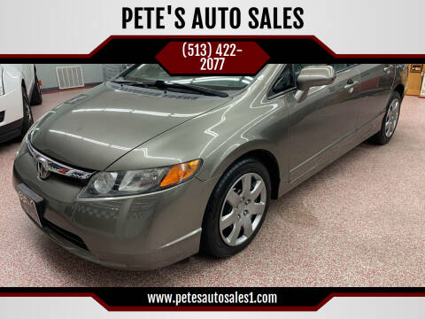 2008 Honda Civic for sale at PETE'S AUTO SALES - Middletown in Middletown OH