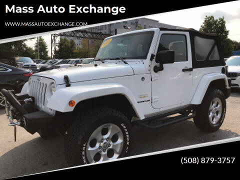 2014 Jeep Wrangler for sale at Mass Auto Exchange in Framingham MA