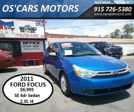 2011 Ford Focus for sale at Os'Cars Motors in El Paso TX