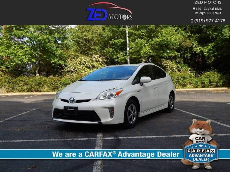 2012 Toyota Prius for sale at Zed Motors in Raleigh NC