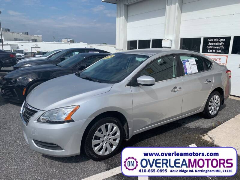 2015 Nissan Sentra for sale at Overlea Motors in Baltimore MD