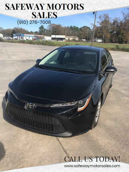 2020 Toyota Corolla for sale at Safeway Motors Sales in Laurinburg NC