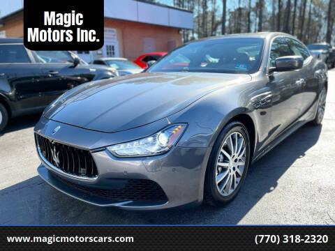 2014 Maserati Ghibli for sale at Magic Motors Inc. in Snellville GA