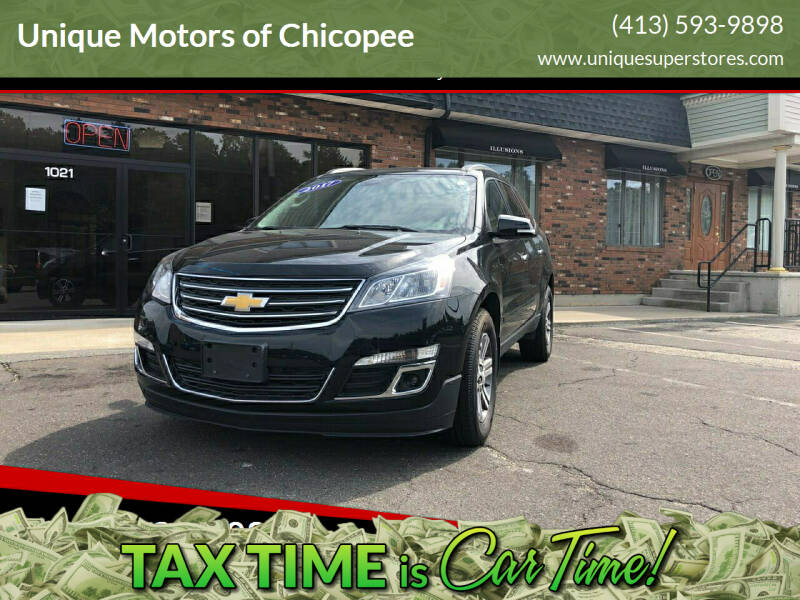 2017 Chevrolet Traverse for sale at Unique Motors of Chicopee in Chicopee MA