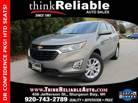 2018 Chevrolet Equinox for sale at RELIABLE AUTOMOBILE SALES, INC in Sturgeon Bay WI