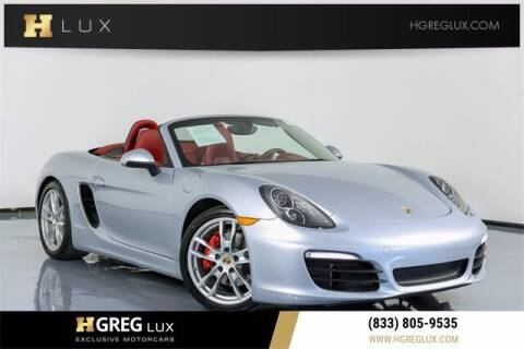 2015 Porsche Boxster for sale at HGREG LUX EXCLUSIVE MOTORCARS in Pompano Beach FL