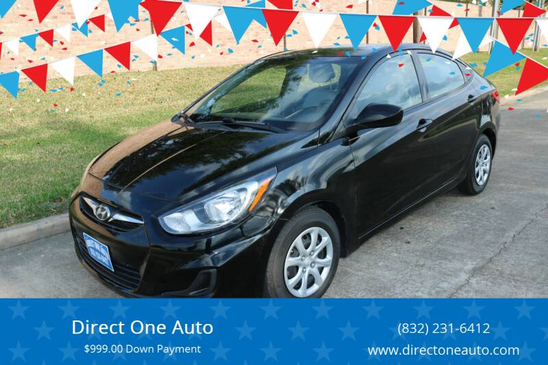 2012 Hyundai Accent for sale at Direct One Auto in Houston TX