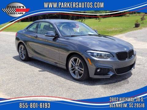 2018 BMW 2 Series for sale at Parker's Used Cars in Blenheim SC