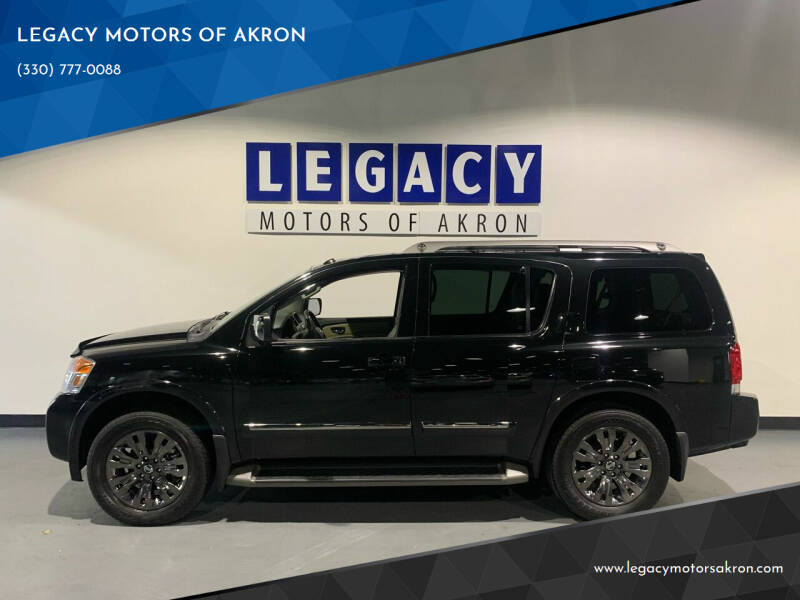 2015 Nissan Armada for sale at LEGACY MOTORS OF AKRON in Akron OH