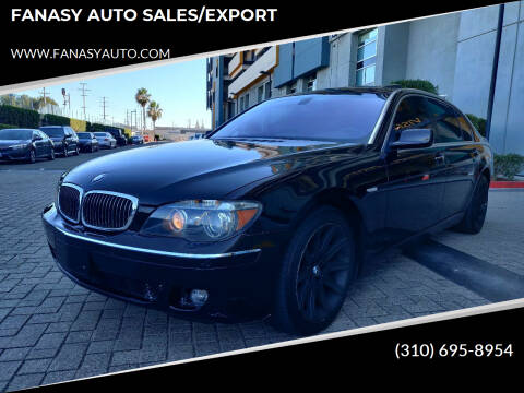 2006 BMW 7 Series for sale at FANASY AUTO SALES/EXPORT in Yorba Linda CA