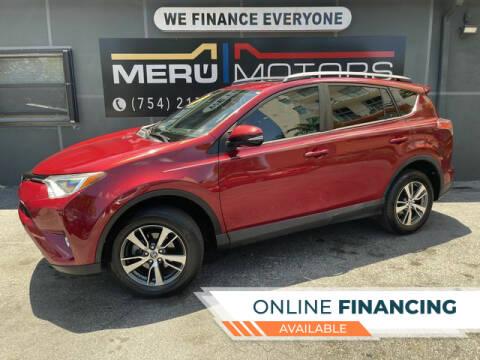 2018 Toyota RAV4 for sale at Meru Motors in Hollywood FL