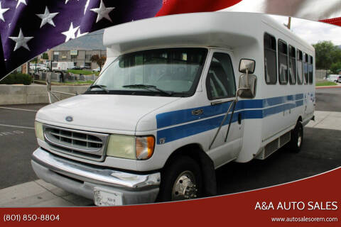 2002 Ford E-Series Chassis for sale at A&A Auto Sales in Orem UT