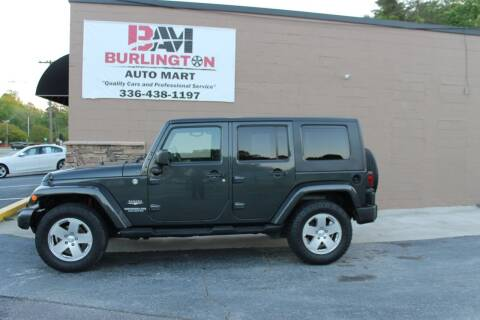 2010 Jeep Wrangler Unlimited for sale at Burlington Auto Mart in Burlington NC