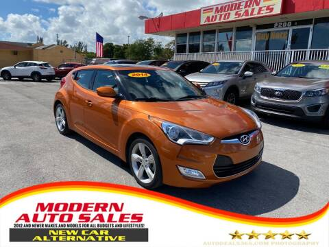2014 Hyundai Veloster for sale at Modern Auto Sales in Hollywood FL