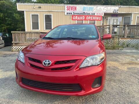 2012 Toyota Corolla for sale at Seven and Below Auto Sales, LLC in Rockville MD
