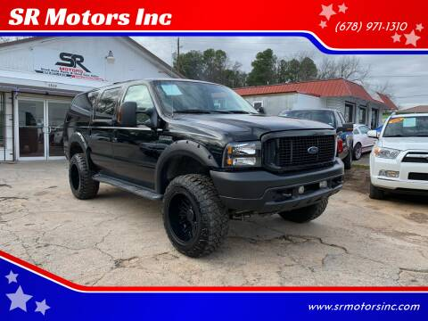 2004 Ford Excursion for sale at SR Motors Inc in Gainesville GA