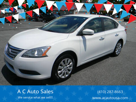 2015 Nissan Sentra for sale at A C Auto Sales in Elkton MD