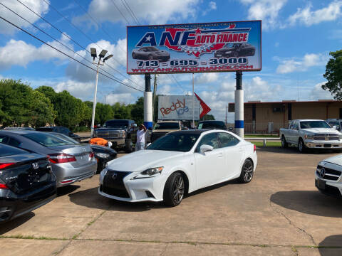2014 Lexus IS 350 for sale at ANF AUTO FINANCE in Houston TX