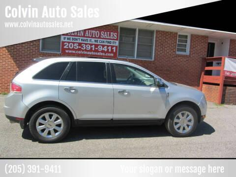 2009 Lincoln MKX for sale at Colvin Auto Sales in Tuscaloosa AL