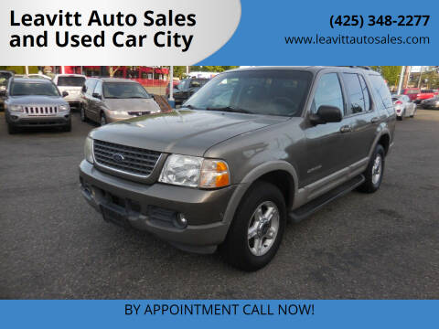 2002 Ford Explorer for sale at Leavitt Auto Sales and Used Car City in Everett WA