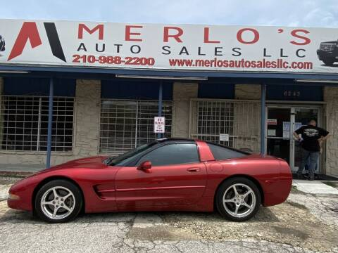 1999 Chevrolet Corvette for sale at Merlo's Auto Sales LLC in San Antonio TX