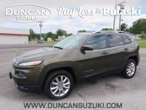 2014 Jeep Cherokee for sale at DUNCAN SUZUKI in Pulaski VA