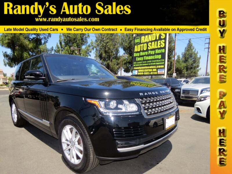 2017 Land Rover Range Rover for sale at Randy's Auto Sales in Ontario CA
