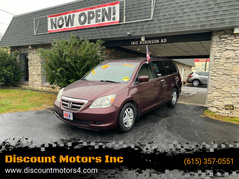 2007 Honda Odyssey for sale at Discount Motors Inc in Old Hickory TN