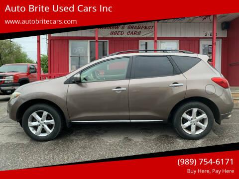 2009 Nissan Murano for sale at Auto Brite Used Cars Inc in Saginaw MI