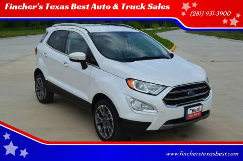 2019 Ford EcoSport for sale at Fincher's Texas Best Auto & Truck Sales in Tomball TX