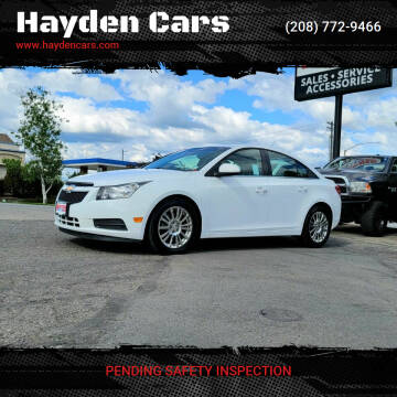 2014 Chevrolet Cruze for sale at Hayden Cars in Coeur D Alene ID