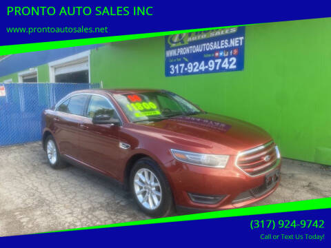 2014 Ford Taurus for sale at PRONTO AUTO SALES INC in Indianapolis IN