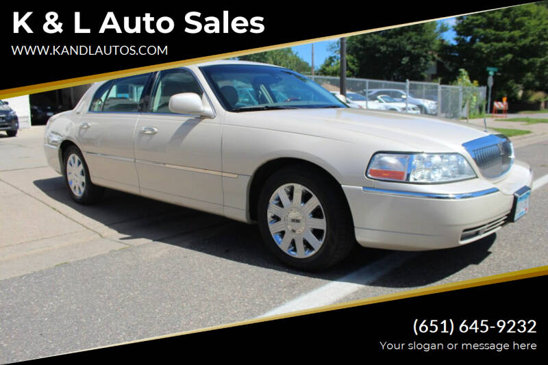 2003 Lincoln Town Car for sale at K & L Auto Sales in Saint Paul MN