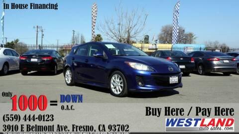 2012 Mazda MAZDA3 for sale at Westland Auto Sales in Fresno CA