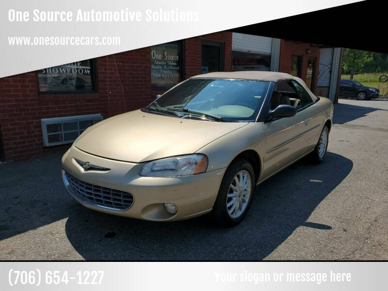 2001 Chrysler Sebring for sale at One Source Automotive Solutions in Braselton GA