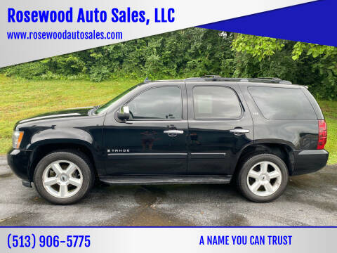 2008 Chevrolet Tahoe for sale at Rosewood Auto Sales, LLC in Hamilton OH