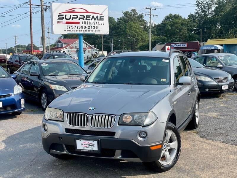 2007 BMW X3 for sale at Supreme Auto Sales in Chesapeake VA