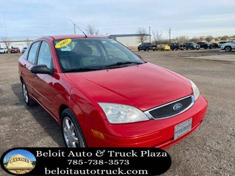 2007 Ford Focus for sale at BELOIT AUTO & TRUCK PLAZA INC in Beloit KS