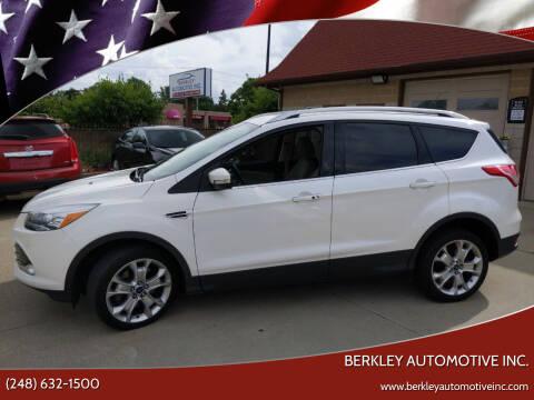 2016 Ford Escape for sale at Berkley Automotive Inc. in Berkley MI