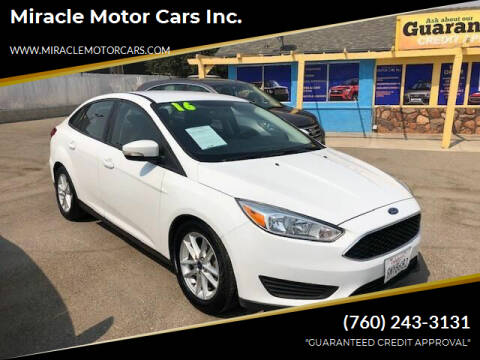 2016 Ford Focus for sale at Miracle Motor Cars Inc. in Victorville CA