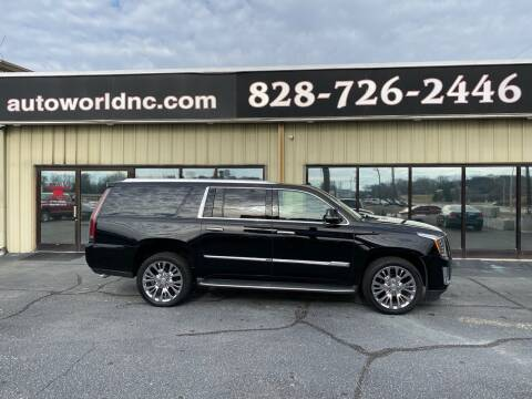 2016 Cadillac Escalade ESV for sale at AutoWorld of Lenoir in Lenoir NC