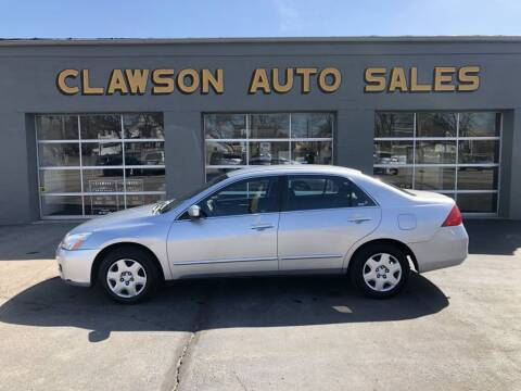 2006 Honda Accord for sale at Clawson Auto Sales in Clawson MI